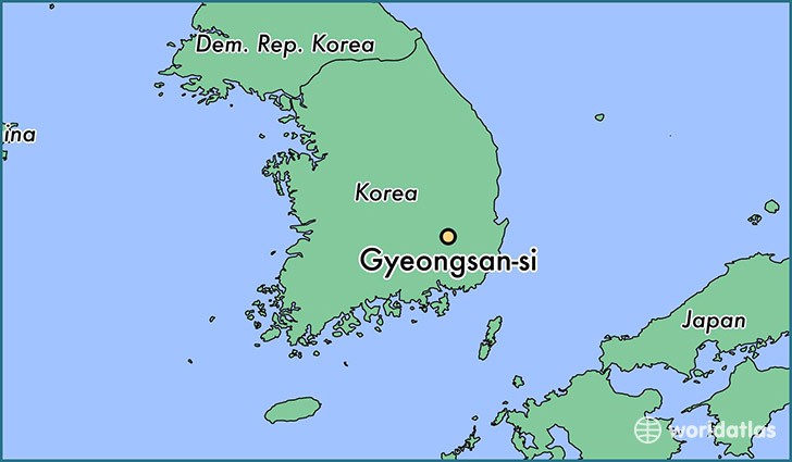 map showing the location of Gyeongsan-si