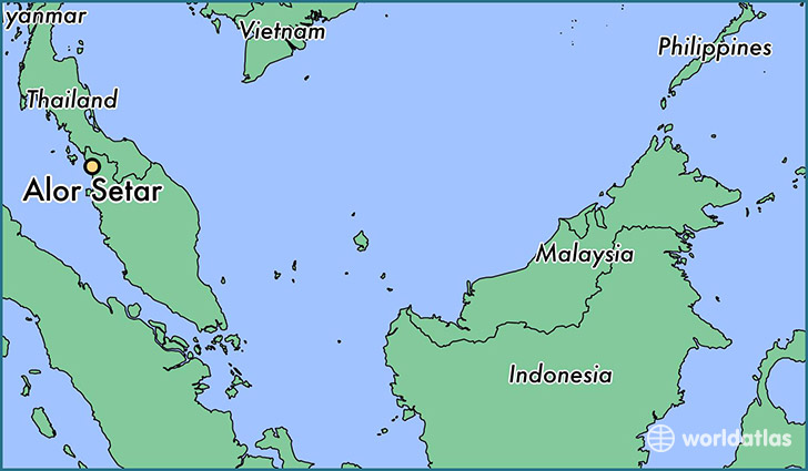 map showing the location of Alor Setar