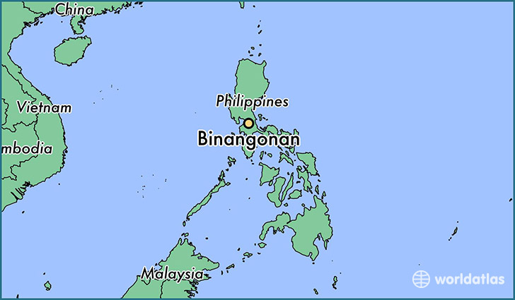 map showing the location of Binangonan
