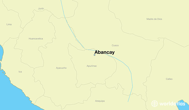 map showing the location of Abancay