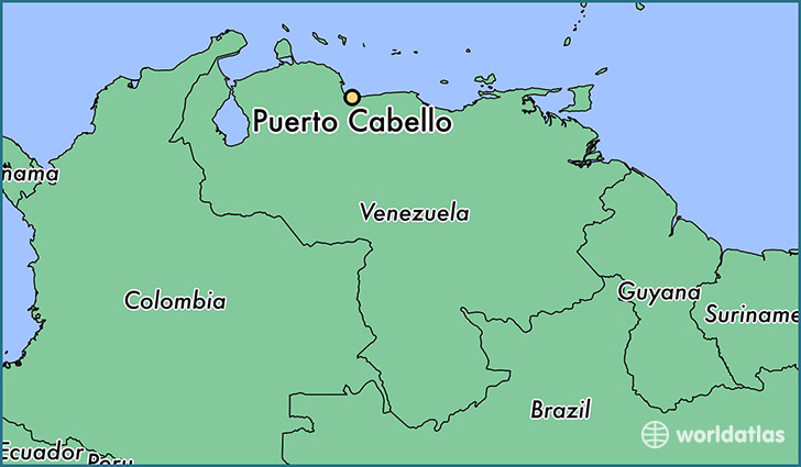 map showing the location of Puerto Cabello