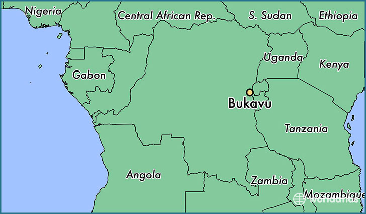 map showing the location of Bukavu