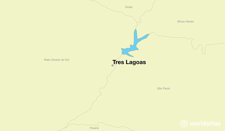 map showing the location of Tres Lagoas