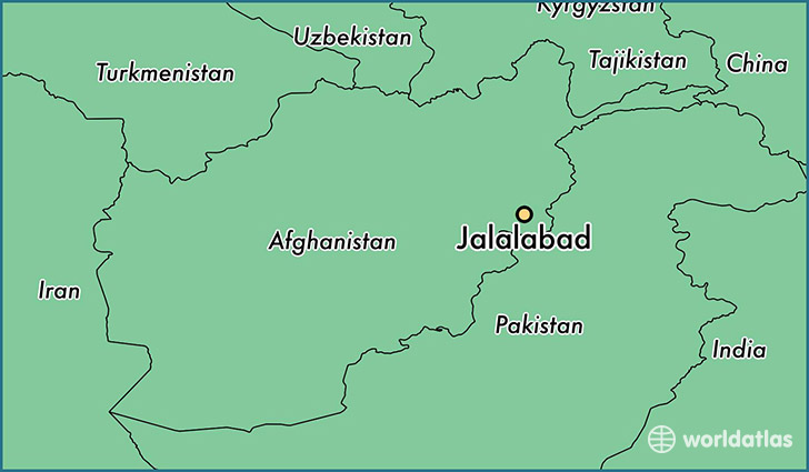 map showing the location of Jalalabad