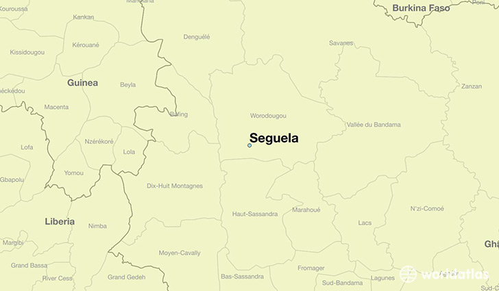 map showing the location of Seguela