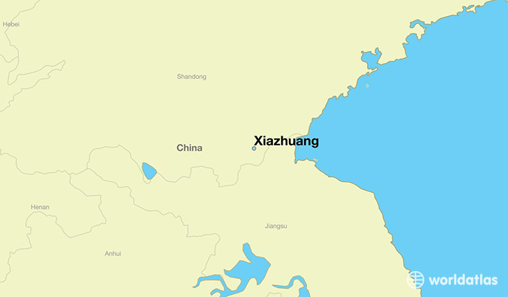 map showing the location of Xiazhuang
