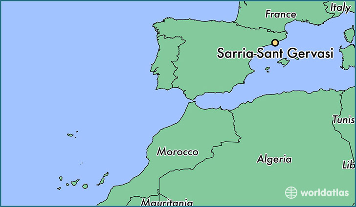 map showing the location of Sarria-Sant Gervasi