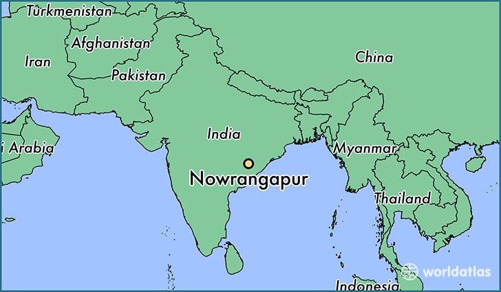 map showing the location of Nowrangapur