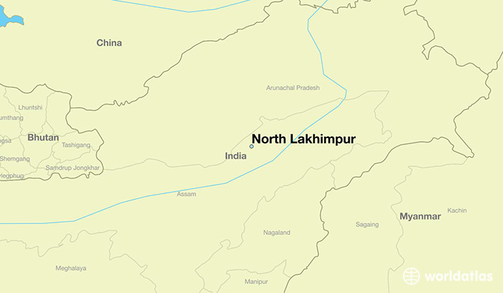 map showing the location of North Lakhimpur
