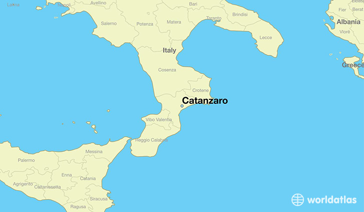 map showing the location of Catanzaro