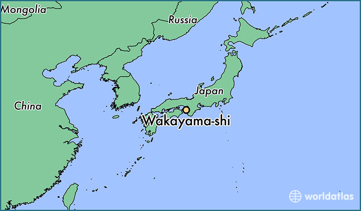 map showing the location of Wakayama-shi