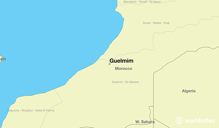 map showing the location of Guelmim