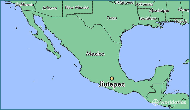 map showing the location of Jiutepec