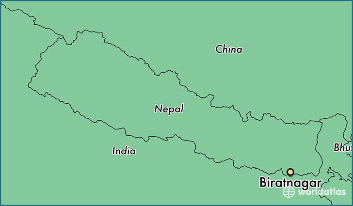 map showing the location of Biratnagar