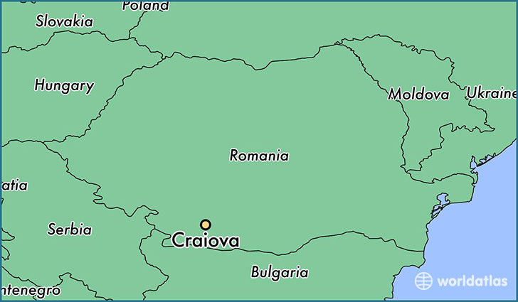 map showing the location of Craiova