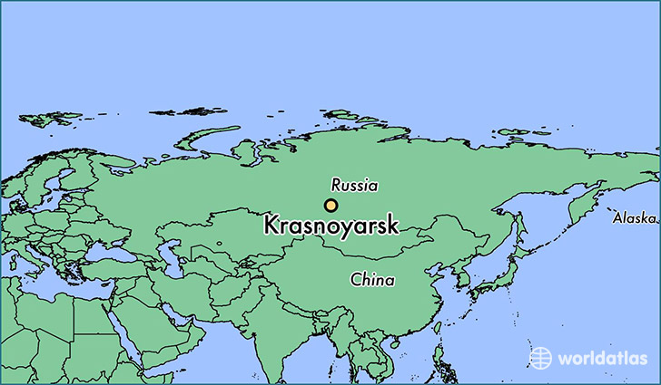 map showing the location of Krasnoyarsk