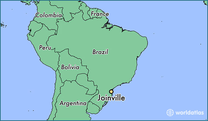 map showing the location of Joinville