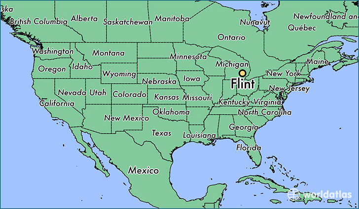 Flint Michigan Map Where is Flint, MI? / Flint, Michigan Map   WorldAtlas.com