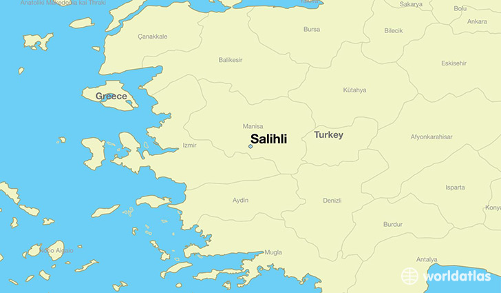 map showing the location of Salihli
