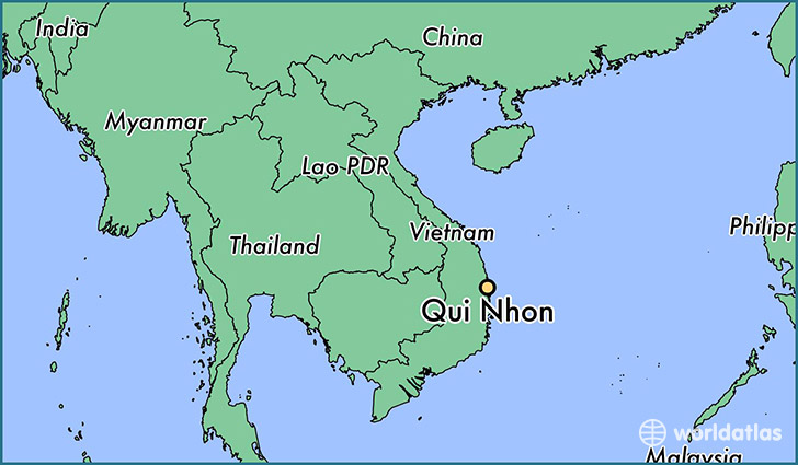 map showing the location of Qui Nhon