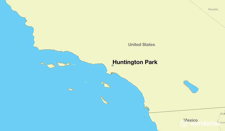 map showing the location of Huntington Park