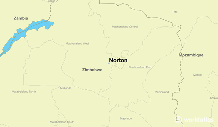 map showing the location of Norton