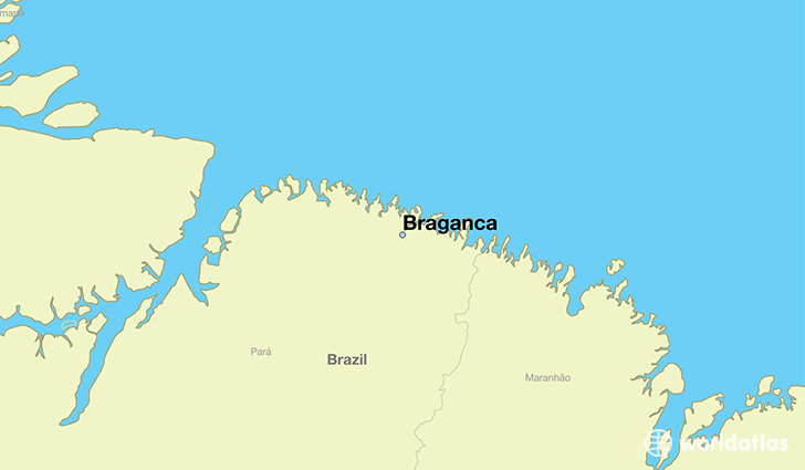 map showing the location of Braganca