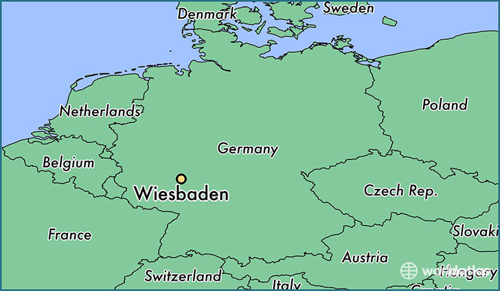 map showing the location of Wiesbaden