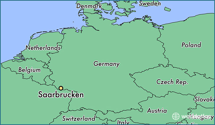 Saarbrucken Germany Map.Where Is Saarbrucken Germany Saarbrucken Saarland Map
