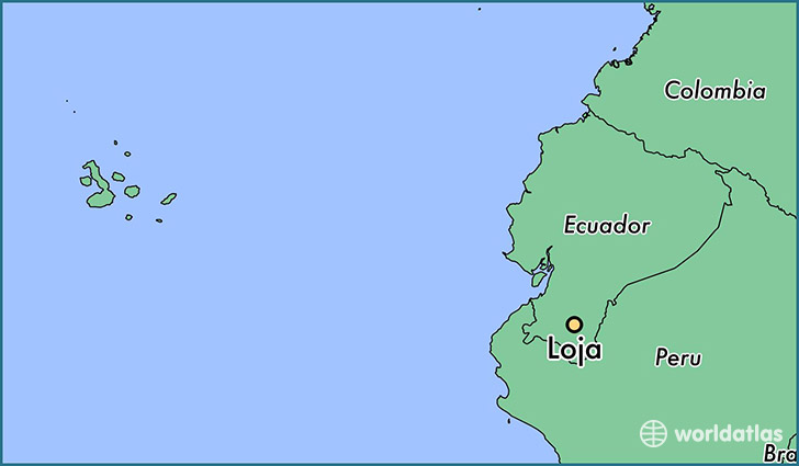 map showing the location of Loja