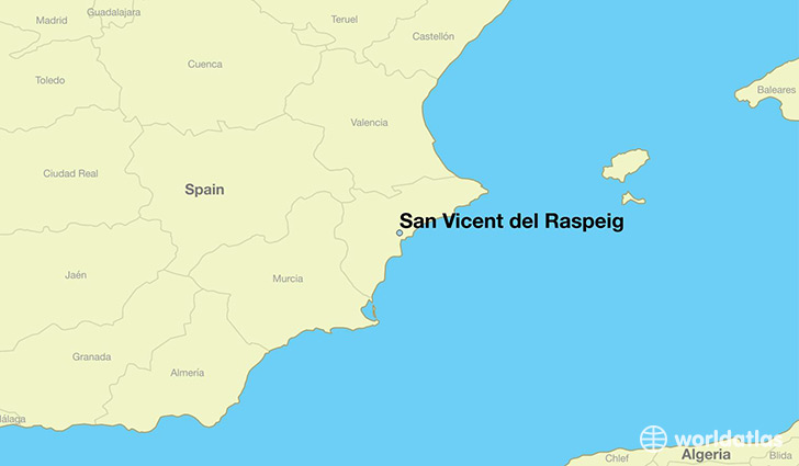 map showing the location of San Vicent del Raspeig