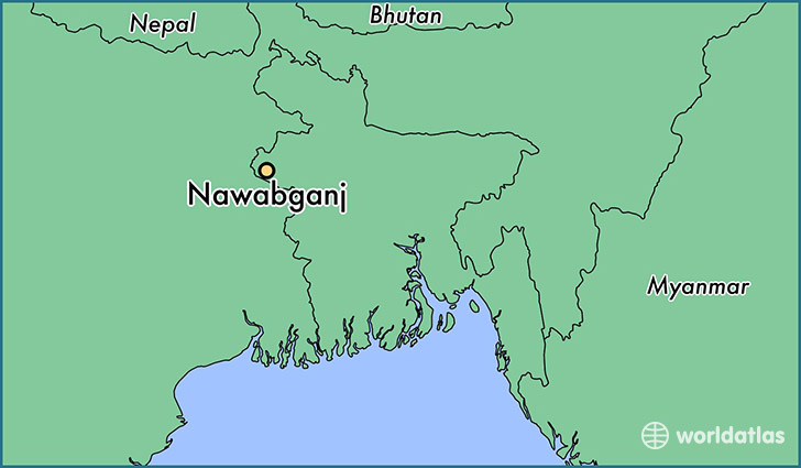 map showing the location of Nawabganj