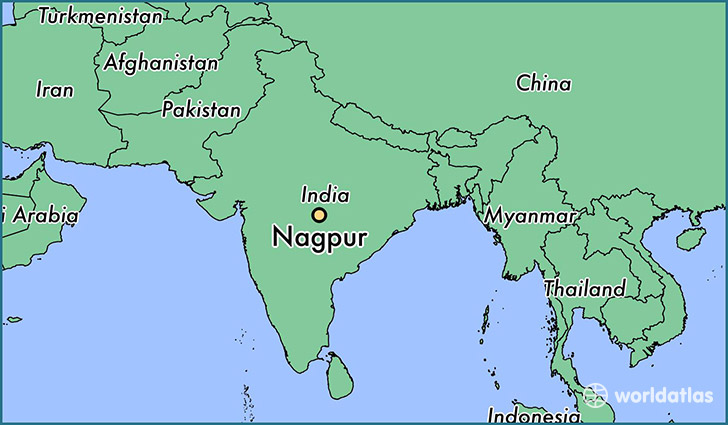 map showing the location of Nagpur