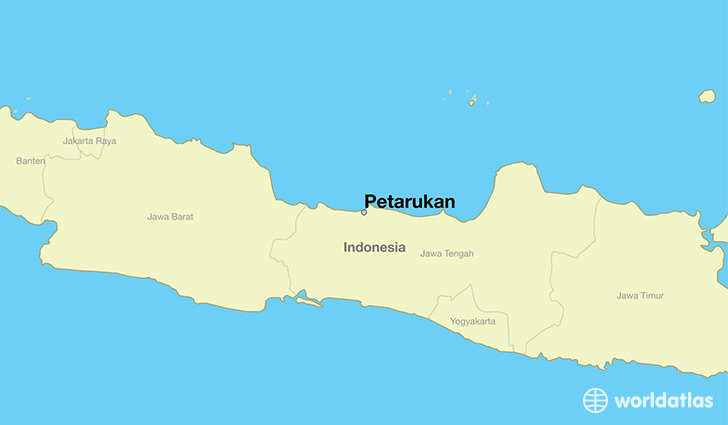 map showing the location of Petarukan
