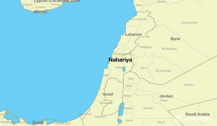 Where is nahariya israel nahariya northern district map where is nahariya israel map showing the location gumiabroncs Gallery