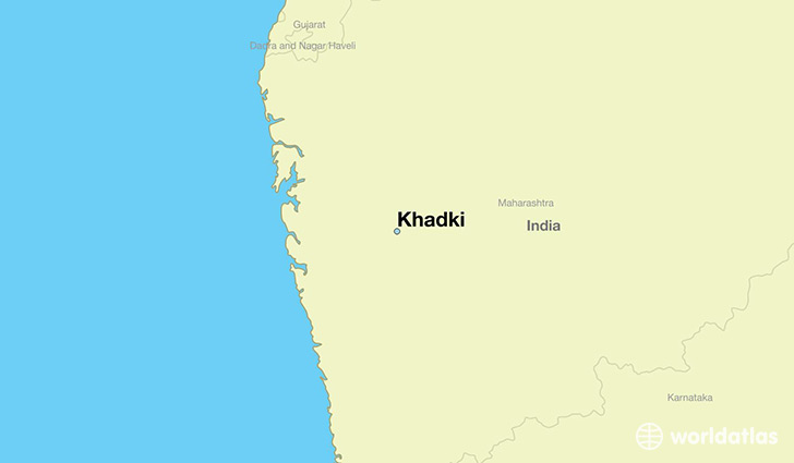map showing the location of Khadki