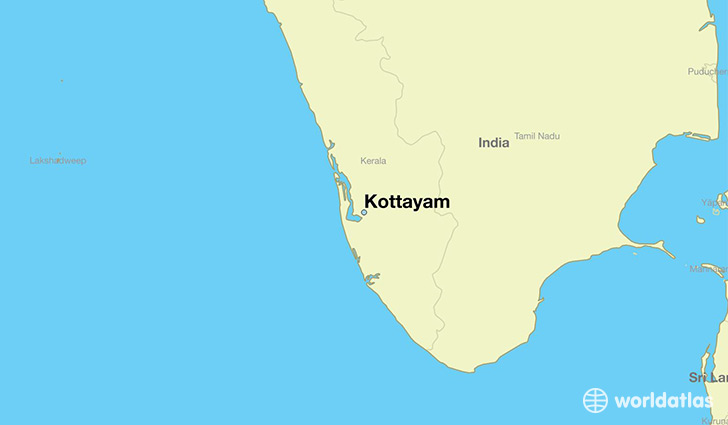 map showing the location of Kottayam