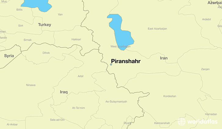map showing the location of Piranshahr
