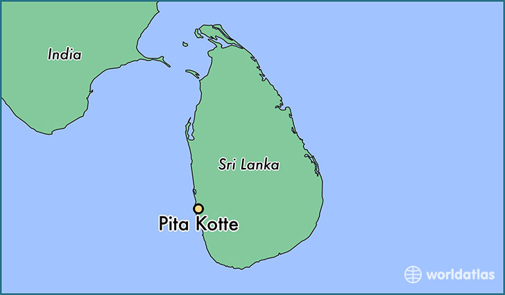 map showing the location of Pita Kotte