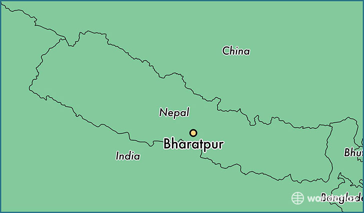 map showing the location of Bharatpur