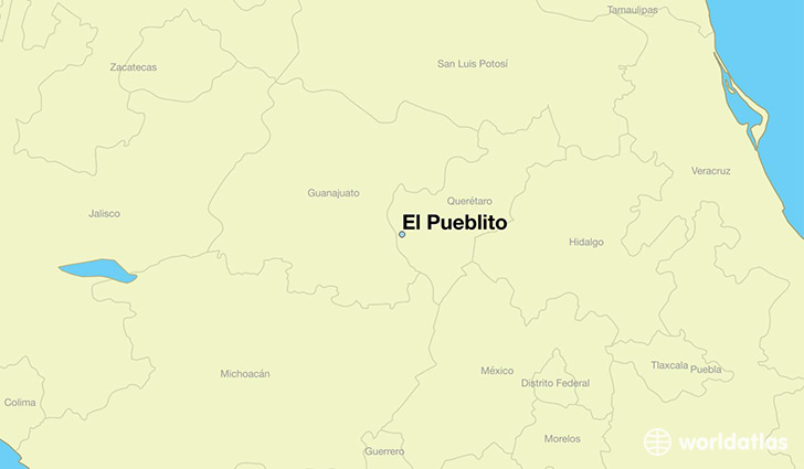 map showing the location of El Pueblito
