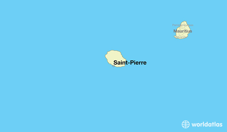 map showing the location of Saint-Pierre
