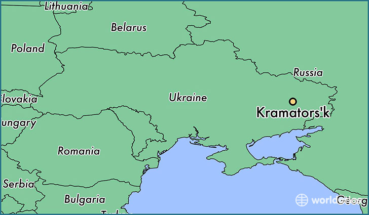 map showing the location of Kramators'k