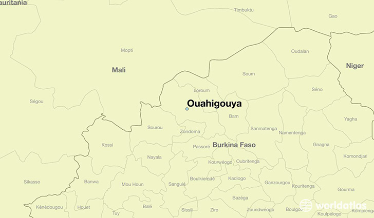 map showing the location of Ouahigouya