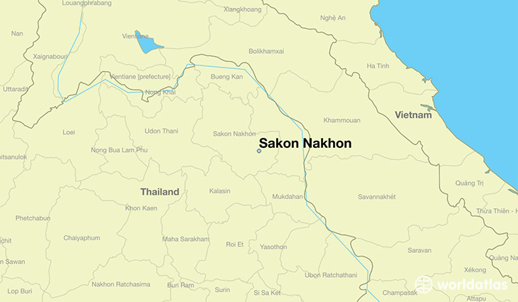 map showing the location of Sakon Nakhon