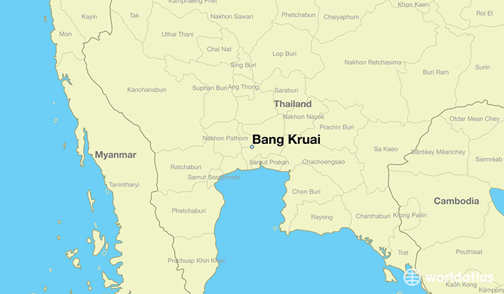 map showing the location of Bang Kruai