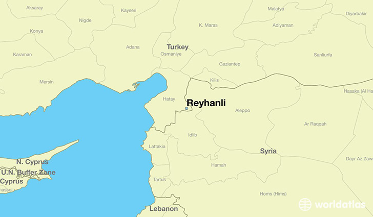 map showing the location of Reyhanli