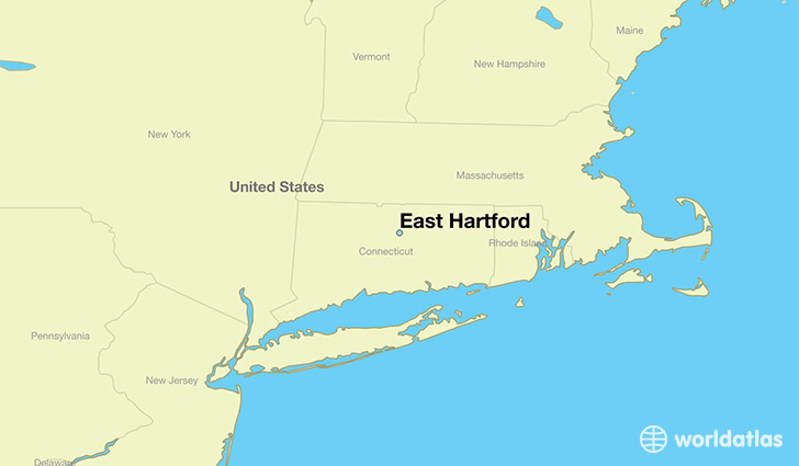 map showing the location of East Hartford