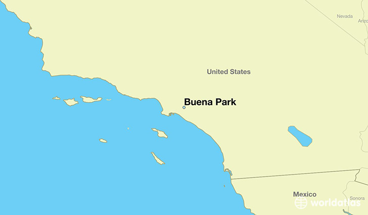 map showing the location of Buena Park