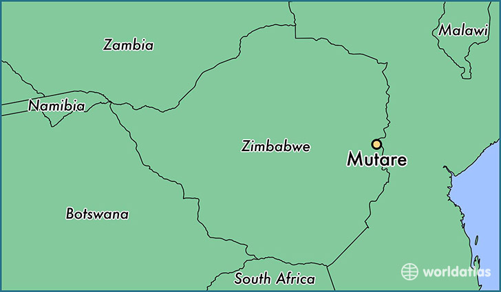 map showing the location of Mutare
